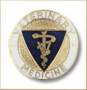 Veterinary Medicine Emblem pin