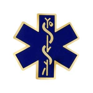 Star of Life Emblem pin