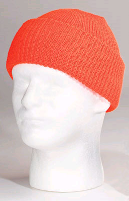 High Visibility Orange Watch Cap - Blank watch cap, wool cap, hi-viz, hat, cap, watchcap