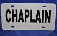 Chaplain Visor License Placard Chaplain, sign, license plate, window, visor