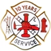Fire Department 10 Years of Service pins