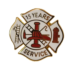 Fire Department 15 Years of Service Pin