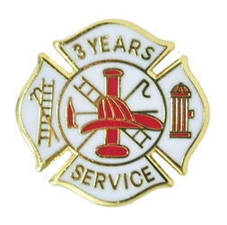 fire department 3 years of service pins