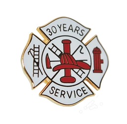 Fire Department 30 years of service pins