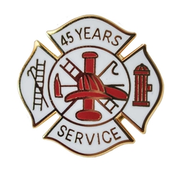Fire Department 45 years of service pins