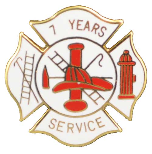 Fire Department 7 years of service pin