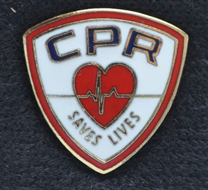 CPR Saves Lives Emblem Pin