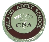 Delano Adult School CNA custom graduation pin