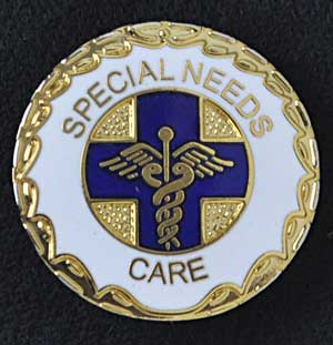 Special Needs Care Worker Pin