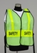 Split Front Vest with back title and vertical striping and titles