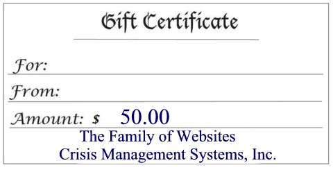 $50 Gift Certificate Gift Certificate