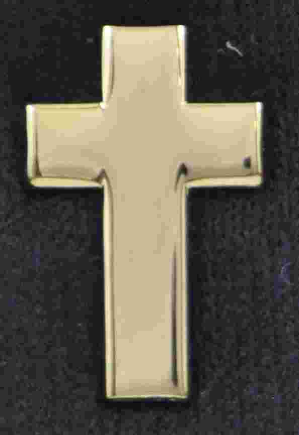 Chaplain Cross Pin Sold in pairs