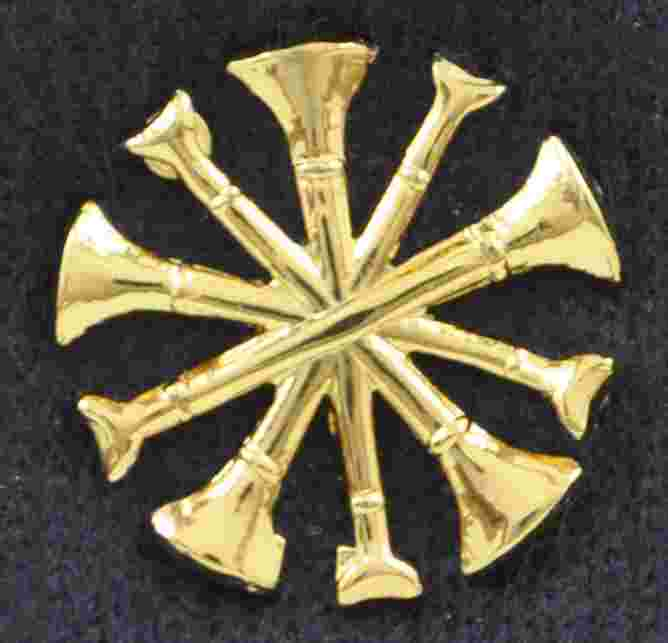 Chief Bugle Pin Sold in pairs
