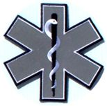 Reflective Star of Life Patch