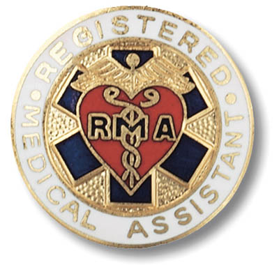 Medical Assistant, Registered Emblem Pin
