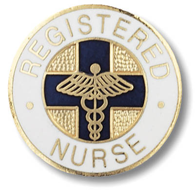 Registered Nurse - Round Blue Cross-