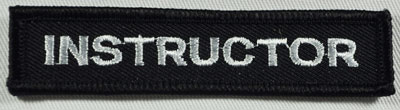 Embroidered Patch -INSTRUCTOR Bar