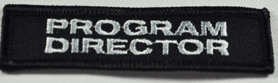 Embroidered Patch - PROGRAM DIRECTOR Bar