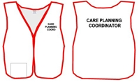 HEICS - Economy Style - White Split Front Vest with Custom Titles